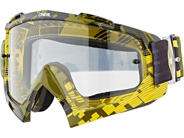 O'Neal B-10 Goggles pixel neon yellow/green-clear